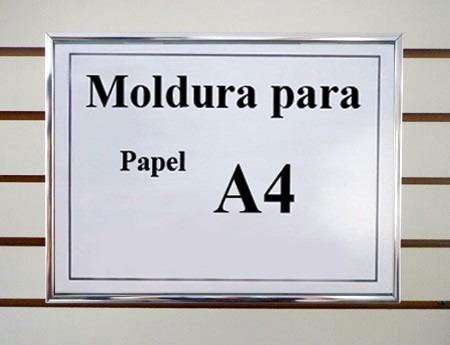 4 Molduras De Alumínio T A4 21x30 Para Diploma E Certificado