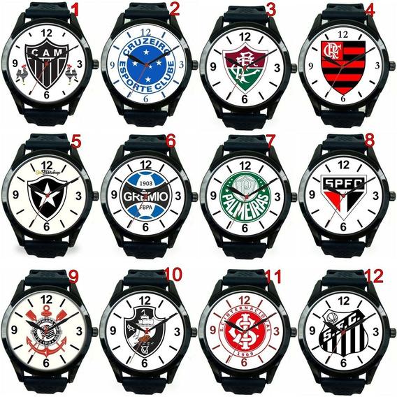Relógio Pulso Personalizado Para Torcedores Times Futebol