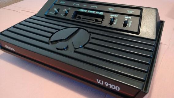 Atari Dismac Vj 9100 Com 2 Cartuchos E Em Ótimo Estado!