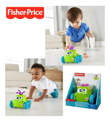 Monstruo Presiona Y Persigue Fisher Price Mattel Scarletkids