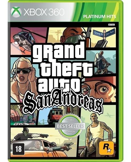 Jogo Gta San Andreas Xbox 360 Mídia Física Original Lacrado