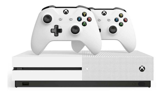 Xbox One S, 1tb, Wi-fi, 4k Ultra Hd + 2 Controles