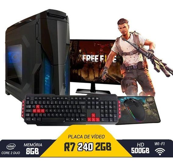 Pc Gamer Completo Barato Intel R7 240 8gb Hd 500gb Wi-fi