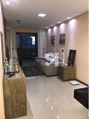 Lindo Apartamento De Um Quarto Mobiliado Com 55,00 M² Vista Mar - Rc0184