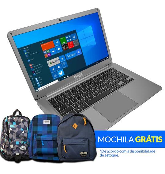 Notebook Login Intel Celeron Windows 10 Ssd 256gb 4gb