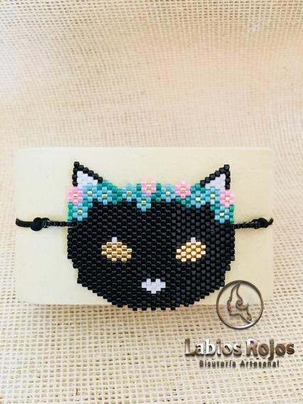 Brazalete Miyuki Modelo Gato Personalizado