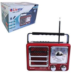 Radio Recarregavel 3w Bivolt Bluetooth Usb Fm Am Sw Tf
