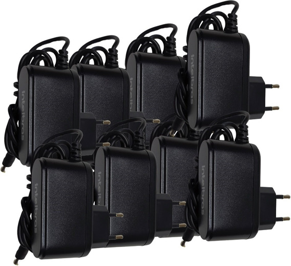 Fonte 12,8v 1a Intelbras Para Cameras De Segurança 8 Peças