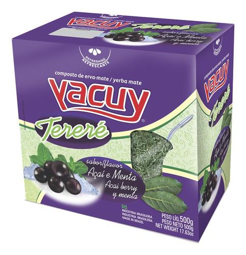 Chá Erva Mate Tereré Yacuy Açaí E Menta 500g