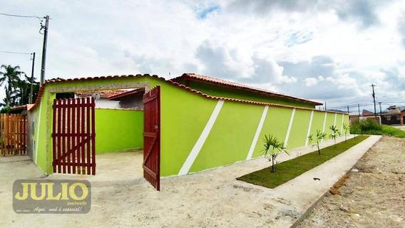 Entrada R$ 33 Mil + Saldo Super Facilitado. Casa Com 2 Dormitórios À Venda, 60 M² Por R$ 165.000 - Jardim Leonor - Mongaguá/sp - Ca3517