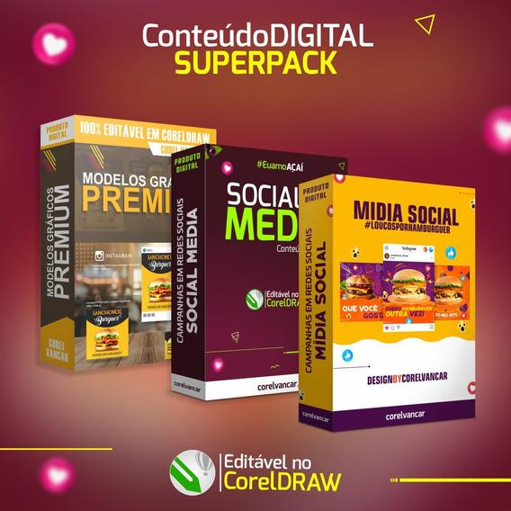 Pack De Artes Social Media Para Campanhas Em Mídias Sociais