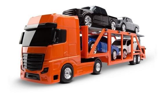 Caminhão Cegonheira Petroleum C/4 Pick-ups - Roma Brinquedos
