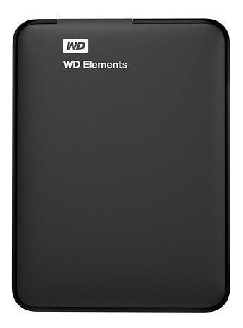 Hdd Externo 2tb Western Digital Elements Preto Portatil Usb