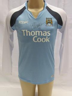 Camisa De Futebol Manchester City Manga Longa - Reebok - Aa