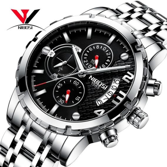 Relógio Pulso Nibosi Ni2356 46mm Na Caixa