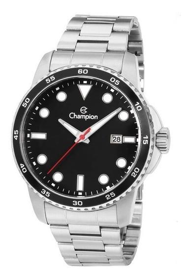 Relógio Champion Masculino Luxo Prateado Original Ca31677t