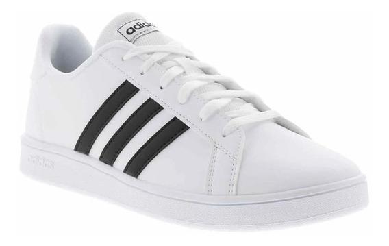 Tenis adidas Grand Court K Blanco/negro - Ef0103