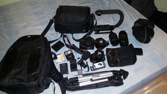 Camara Cannon Con Su Kit Completo.