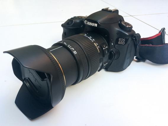 Câmera Canon 60d + Lente Sigma 17 - 50mm F/2.8 Ex Dc