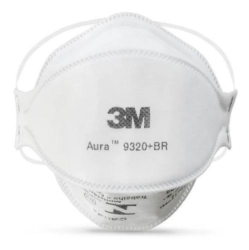 Máscara 3m Aura 9320+br Pff2 N95 Respirador S/ Válvula 1 Un