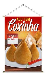 Banner De Coxinha De Frango - 60x90cm