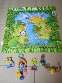 Lote Com Brinquedos Para Bebê Fisher Price + Tapete Usados