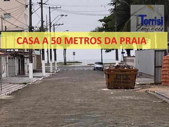 Casa Em Praia Grande, 50 Metros Da Praia,02 Dormitórios Sendo 01 Suíte , Maracaná, Ca0148 - Ca0148
