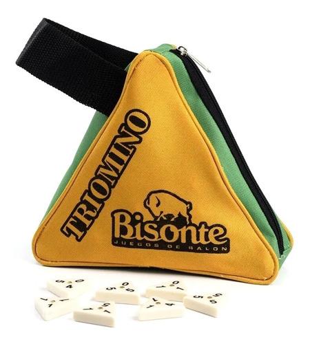 Triomino Juego De Mesa Domino Triple 56 Fichas Bisonte
