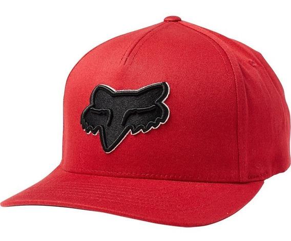 Gorra Cachucha Fox Roja Mtb Flex 45 Flexfit Drk Rd