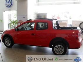 Volkswagen Saveiro Gp 1.6 Cabina Doble + Power 0km Rojo