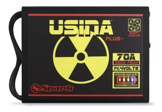 Fonte Automotiva Usina 70a Bivolt Battery Meter + 3 Brindes