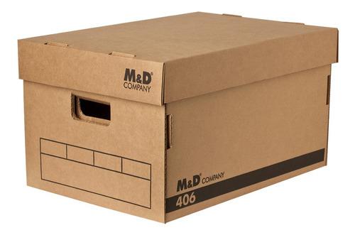 Imagen 1 de 1 de Caja Archivo Super Reforzada Cartón Corrugado Myd 406