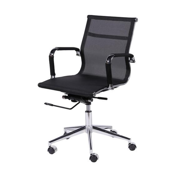 Cadeira Escritório Executiva Baixa Giratória Preto