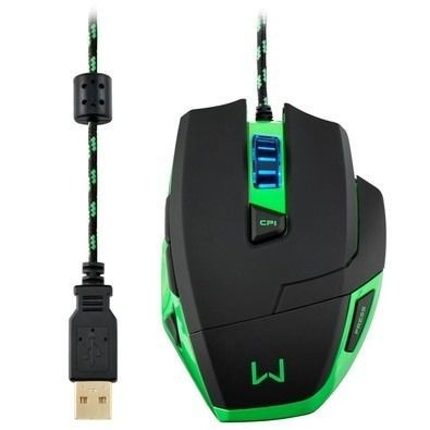Mouse Gamer Multilaser Warrior 3200dpi - Mo245 + Mouse Pad