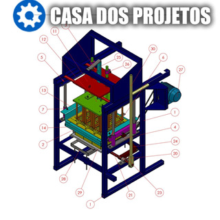 Projeto De Máquina Para Blocos De Concreto Cimento