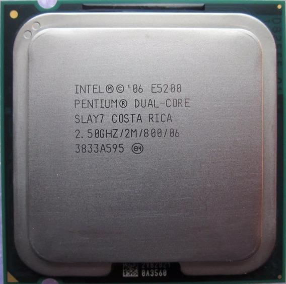 Processador Intel Dual Core E5200 2.5 Ghz Lga 775 Usado