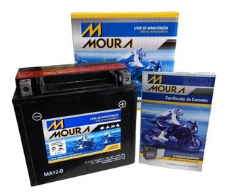 Bateria Harley Davidson 883r Iron 883 1200 Moura Ma12-d