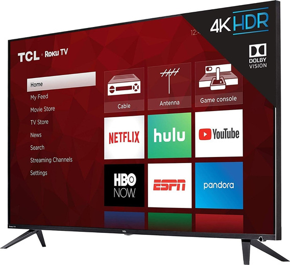 Tv Tcl 75r617 - 75 Polegadas - Led 4k Ultra Hd Roku Smart Tv
