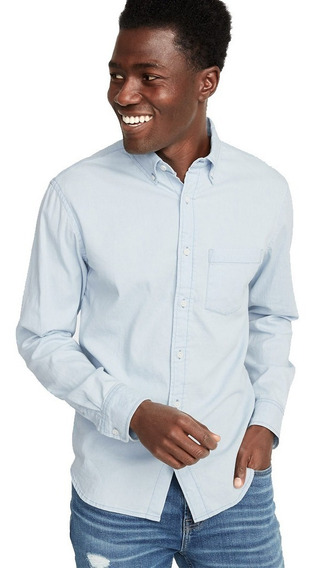 Camisa Hombre Casual Manga Larga Sim Fit 394707 Old Navy