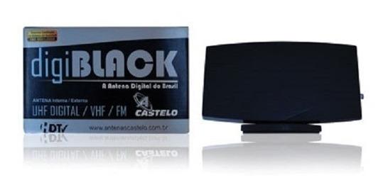 Antena Digiblack Castelo Interna E Externa Digital Uhf Vhf
