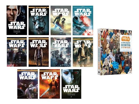 Kit 11 Livros Star Wars + Coleção Action Figures #