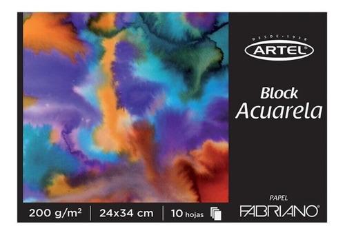 Block Acuarela Fabriano 200grs