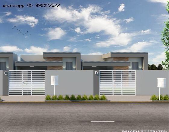 Casa Para Venda Em Várzea Grande, Nova Várzea Grande, 2 Dormitórios, 1 Suíte, 1 Banheiro - 337_1-1325135