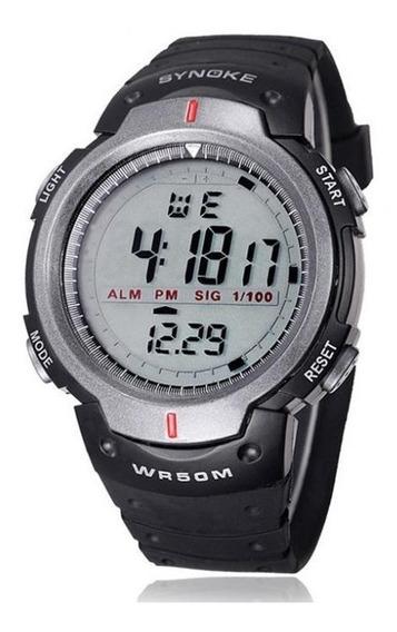 Relógio Masculino Esportivo Synoke Preto Pronta Entrega