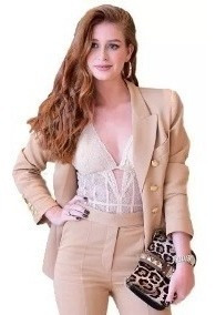 Body Alça Renda Rendado Feminino Moda Globais Atrizes Linda