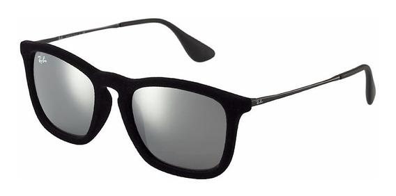 Óculos De Sol Ray Ban Rb4187 Chris 6075/6g 5418 Original