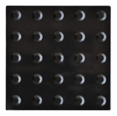 Imagem 1 de 1 de 3 Caixas Piso Alerta Preto Pvc 25x25cm
