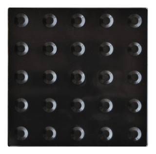 3 Caixas Piso Alerta Preto Pvc 25x25cm
