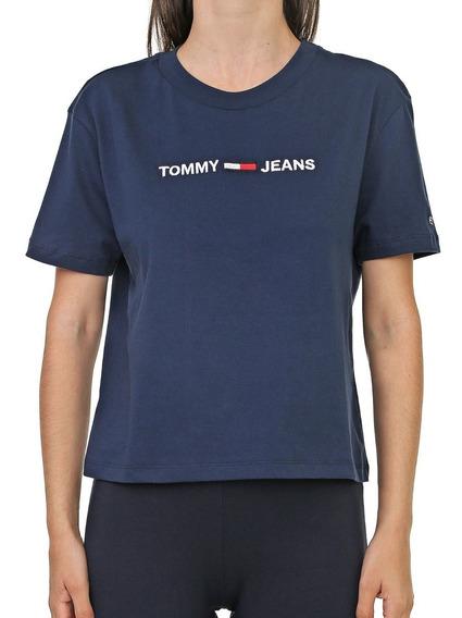 Camiseta Feminina Tommy Jeans Modern Linear Logo
