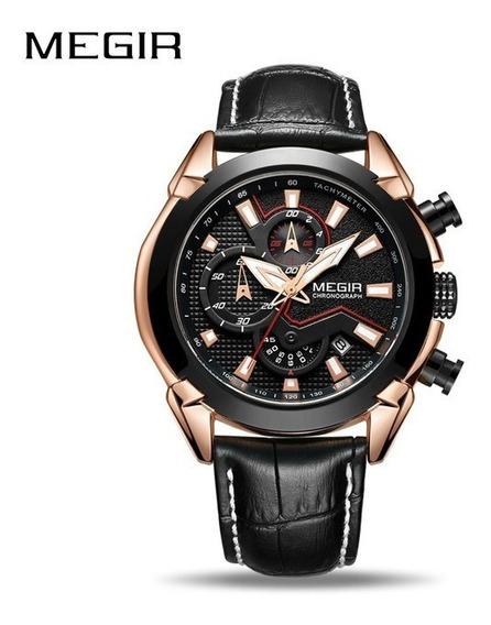 Relógio Pulso - Megir Multifuncional 48mm Quartzo
